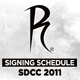 Radical&#039;s SDCC 2011 Signing Schedule