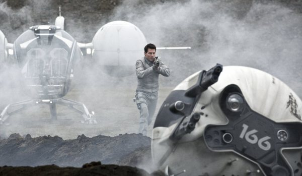"Tom Cruise stars as Jack Harper in the movie ""Oblivion,"" set on a future Earth. (David James/Universal Pictures)"